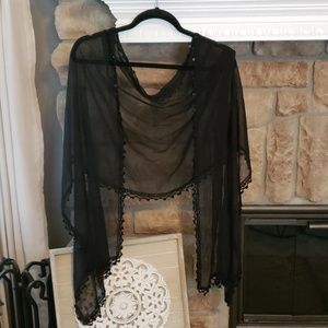 Black Shrug Scarf